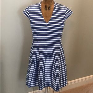 Lilly Pulitzer Briella Blue white striped Dress L